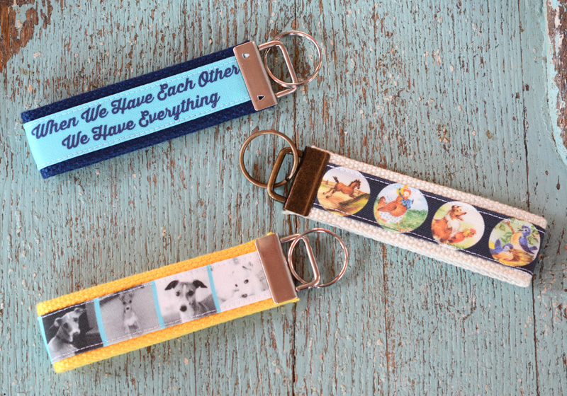 DIY Personalized Fabric Key Fobs