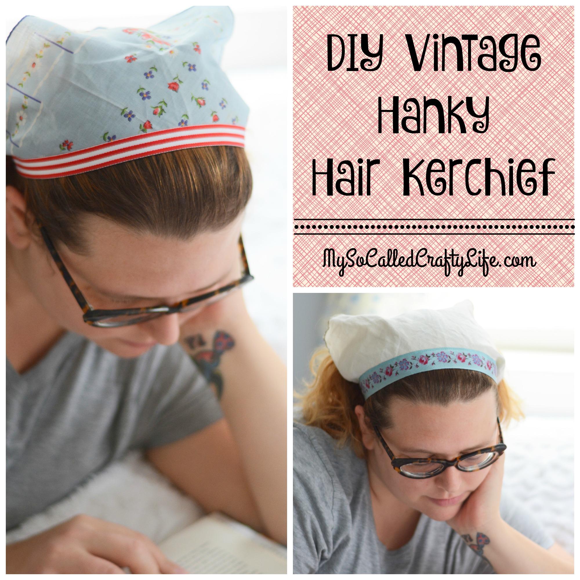 Kitschmas Gifts- DIY Vintage Hanky Hair Kerchief
