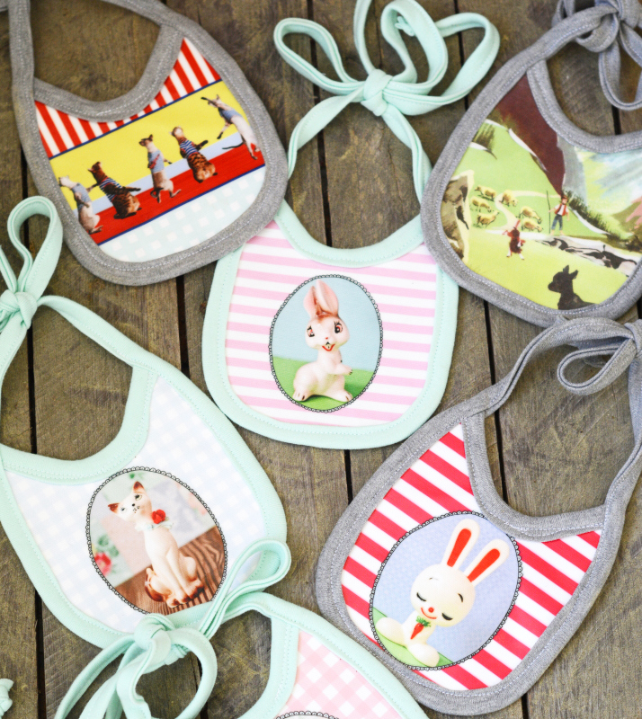 DIY Double Sided Oilcloth Bibs with Contrado
