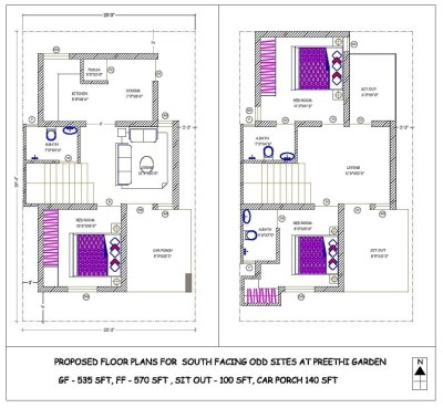 25 X 40 House Plans India