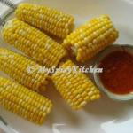 corn on the cob, garlic butter sauce