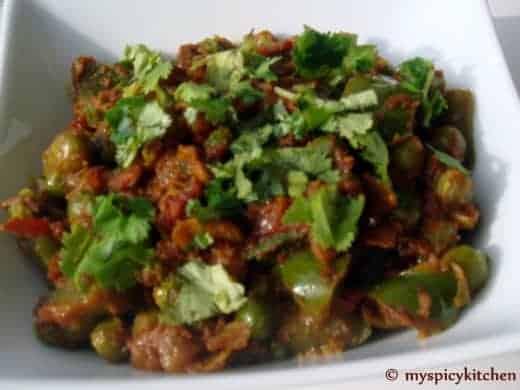 Bell Pepper Geen Peas Curry