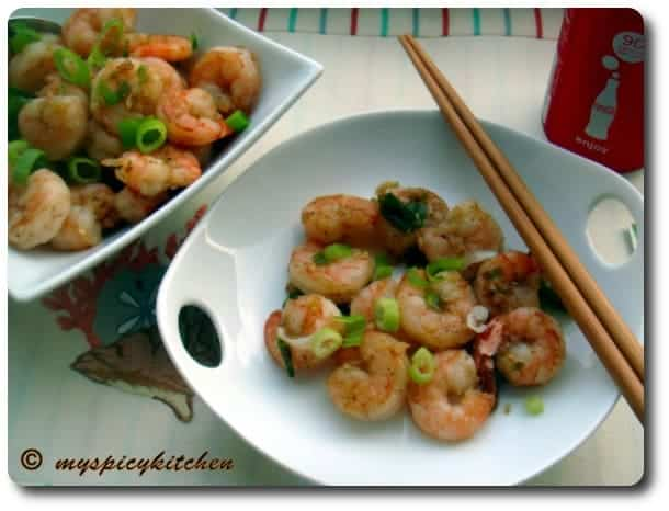 Sauteed pepper shrimp