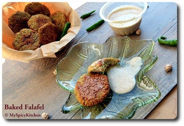 Chickpeas vada, middle eastern cuisine, fusion falafel, blogging marathon