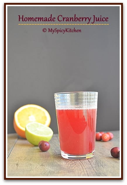 Fresh Cranberry Juice, Blogging Marathon, Cooking with Cranberries,