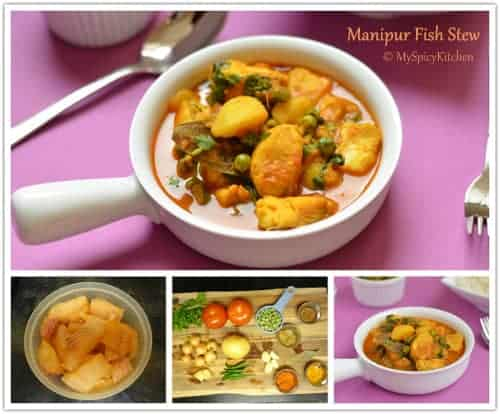 Manipur fish curry, Manipur fish stew, Blogging marathon, manipuri cuisine