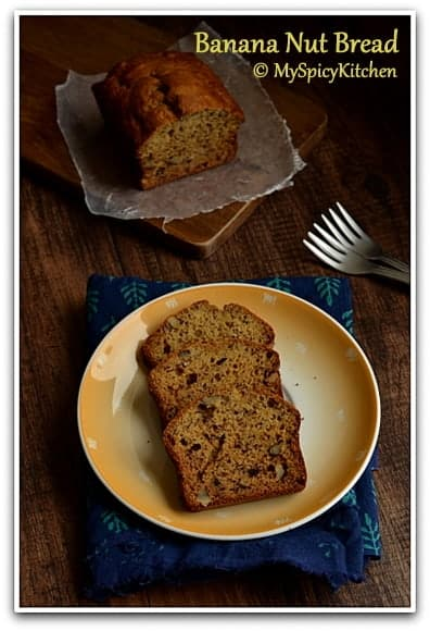 Blogging Marathon, Baking Marathon, Fire Up Your Oven, FireUpYourOven, Cooking from Cookbook Challenge, CCC, Banana walnut cake,