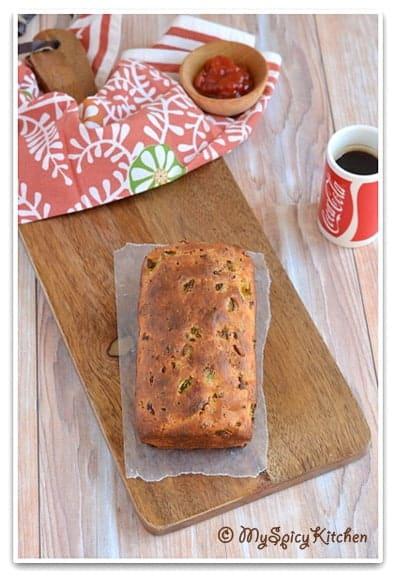 Blogging Marathon, Baking Marathon, FireUpYourOven, Spicy Bread, Spicy pepperoni bread, Spicy vegetable bread