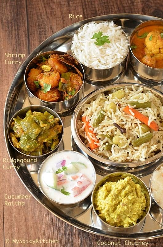 Simple Telugu Bhojanam ~ Telugu Thali from Telangana