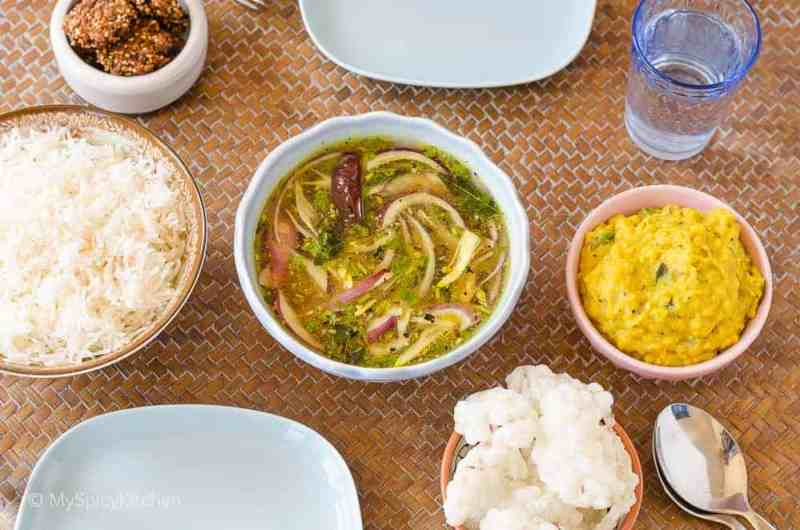 Pappu Pachi Pulusu, Pachi Pulusu, Raw Tamarind Rasam, Ulligada pachi Pulusu, Telangana Food, Telangana Cuisine, Telugu Food, Indian Food, South Indian Food, Blogging Marathon, Journey Through the Cuisines, A-Z Challenge, A-Z Telangana Cuisine