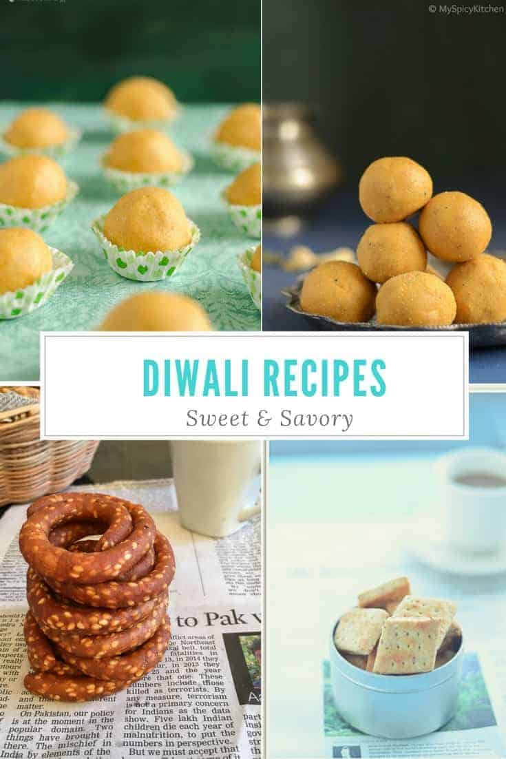 Sweet &  Savory Diwali Recipes Roundup