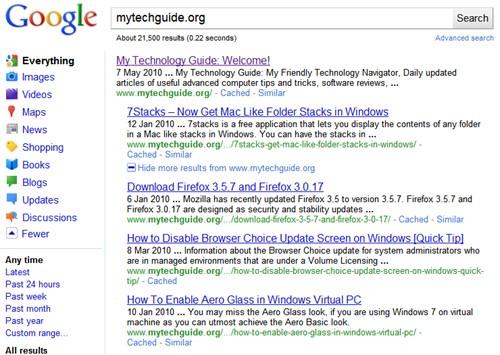 New Google Look