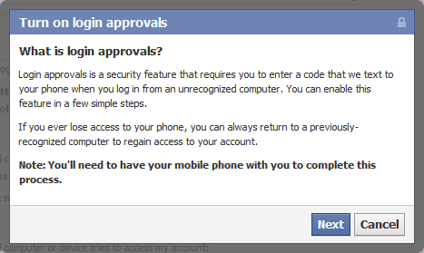 Facebook Login Approvals