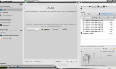 Audials Light: Listen To Online Radio, Watch Videos, Record Media, Manage Your Media Collection