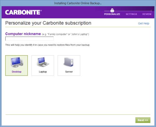carbonite backup