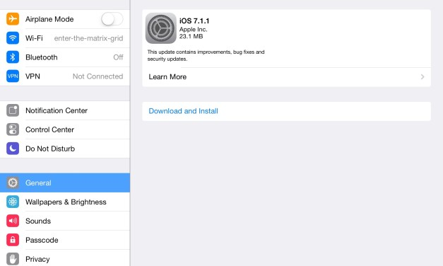 iOS 7.1.1 Update Available for Download Brings Touch ID Improvements, Bug Fixes