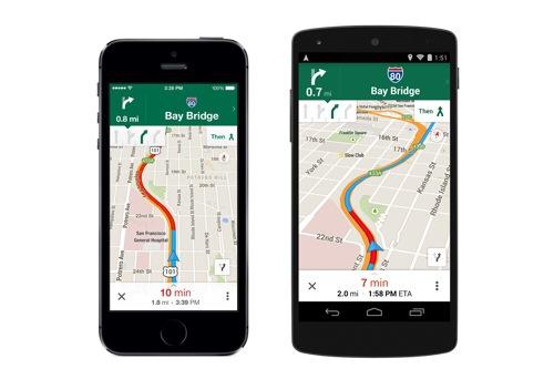 Google Maps 8 features lane guidance