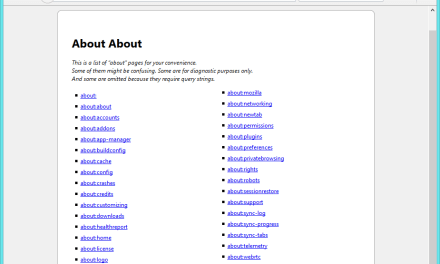 """Complete List Of Mozilla Firefox """"about:"""" (URLs) Protocol Links In Details"""