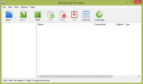 Bandizip free file archive manager for Windows