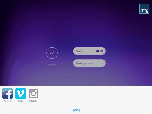 Hyperlapse App Share