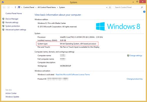 Windows System Properties windows