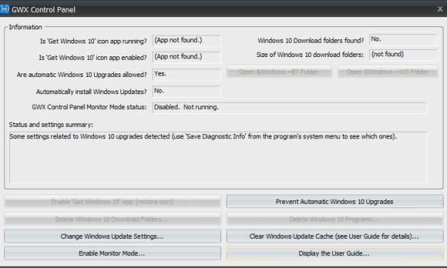GWX Control Panel Update Makes Sure You Do Not Receive Accidental Windows 10 Upgrade