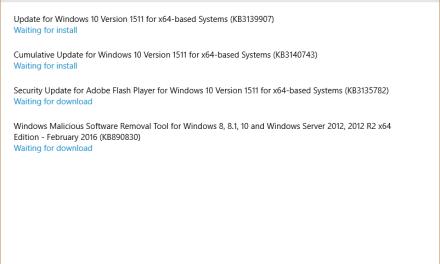 Microsoft Releases KB3140743 Cumulative Update for Windows 10 Version 1511