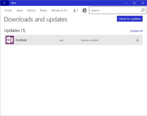 Manually Update Windows 10 Apps