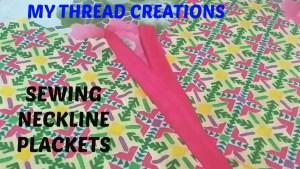 How To Make Placket Neckline