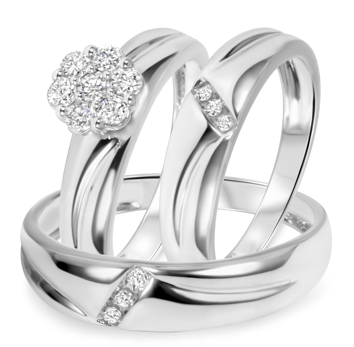 fake diamond wedding set ny wedding rings set Nyeasia s Round Cut CZ Wedding Ring Set