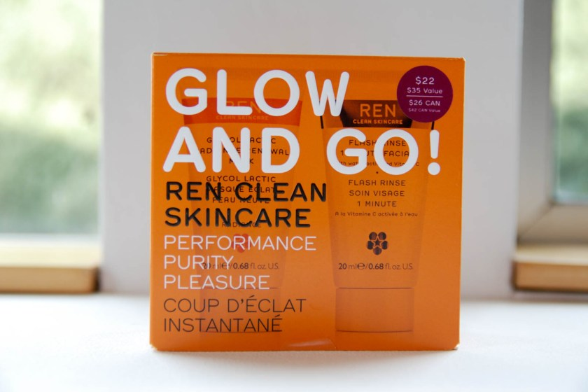 Ren Glow and Go! Flash Rinse 1 Minute Facial Glycol Lactic Radiance Renewal Mask