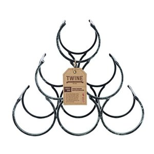 6 Bottle Free Standing Metal Wine Rack