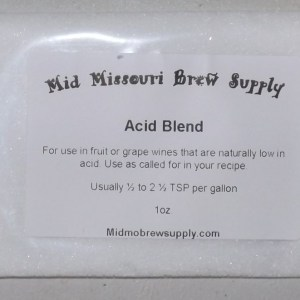 Acid Blend for Wine Making, 1oz. Free Shipping!!!
