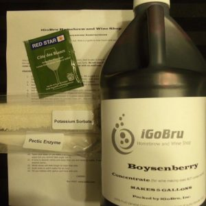 Winemaking Kit, 100% Fruit Concentrates Boysenberry Wine!