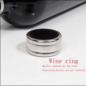 Stainless Steel Wine Bottle Collar Alcohol Drip Round Ring Drip Ring