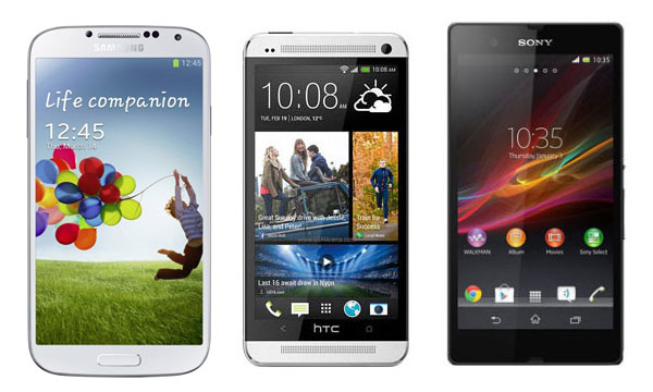 galaxy s4 vs xperia z vs htc one-2