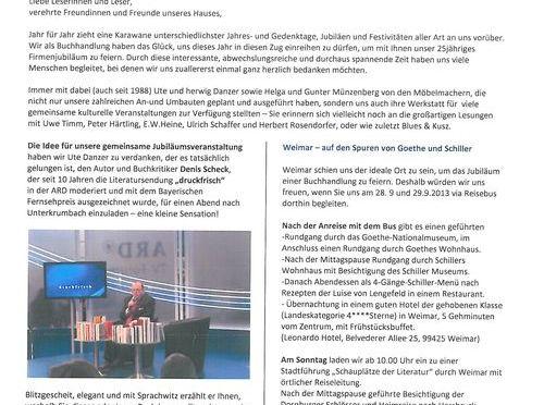 LÖSCH-Papier – Noch ein Jubiläum! 25 Jahre Buchhandlung Lösch!