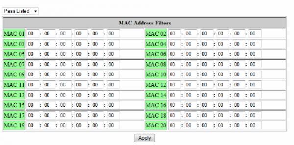 filtrar acceso router y wifi por MAC