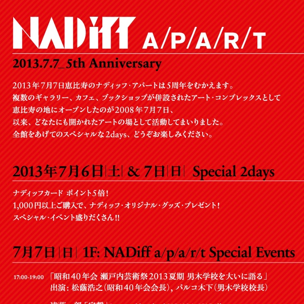 NADiff A/P/A/R/T 5th anniversary