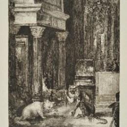 G.モロー/F.ブラックモン/「ラ・フォンテーヌの寓話:蛇の尾と頭」1886年/エッチング/110000円