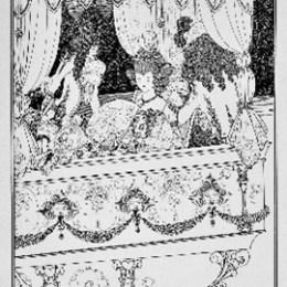 オーブリー・ビアズリー/「髪盗み:御座船」1896年/ライン・ブロック/110000円