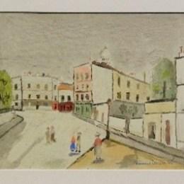 モーリス・ユトリロ/「クレマン広場」1950年/リトグラフ/330000円
