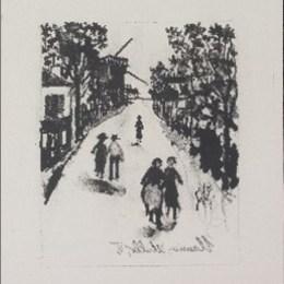 モーリス・ユトリロ/「モーリス・ユトリロの伝説と生涯」1927年/リトグラフ/176000円