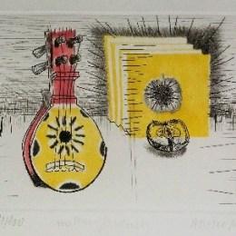 マルセル・アムスレール「お気に入りのりんご」1968年/エッチング/55000円