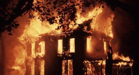house on fire NL 500x272 TRAGIC: Explosion Rocks Governor's Residence In Owere