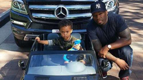 50 cent son mecedes benz car NL1 Go shorty: 50 Cent Buys Mecedes Benz For 2 Year  Old Son As Birthday Gift