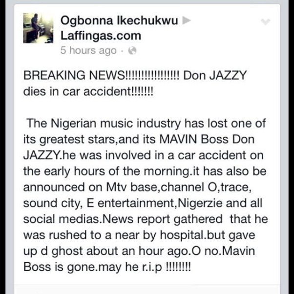 Don Jazzy Car Accident