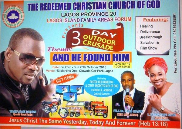 "Fuji Singer ""Pasuma"" Gets Invitation To Perform At Redeem Church (Photo)"