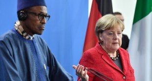 Buhari and Merkel: He clearly doesn't belong there