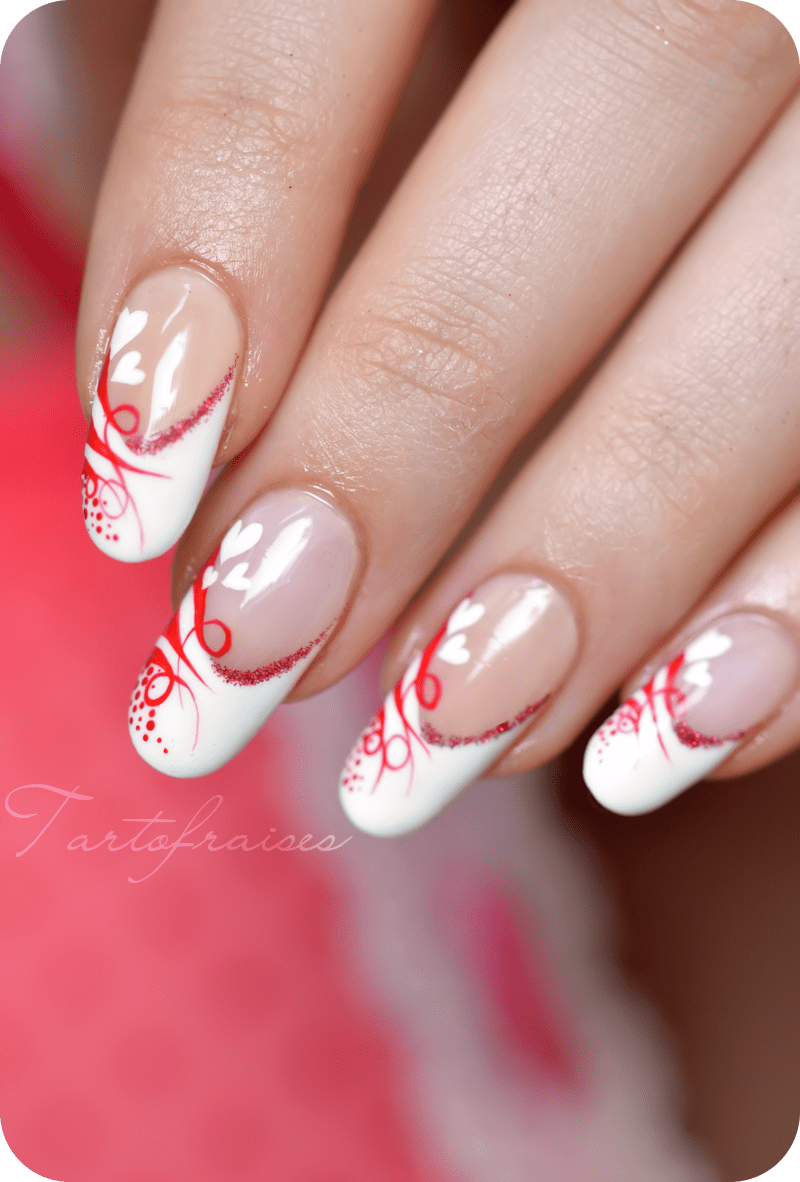 valentine nail designs for short nails
